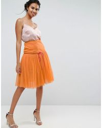 ASOS - Tulle Prom Skirt With Deep Basque - Lyst