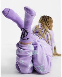 Juicy Couture X Asos Logo Socks - Purple