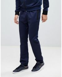 Fred Perry - Tonal Track Pant In Blue - Lyst