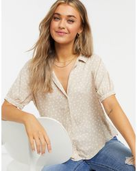 Abercrombie & Fitch Puff Sleeve Top - Multicolour