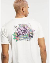 Quiksilver – Informal Disco – T-Shirt - Weiß