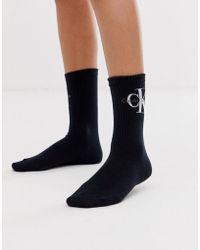 Calvin Klein - Korte Sokken Met Logo In Zwart - Lyst