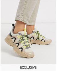 Monki Color Block Chunky Sneaker - Gray