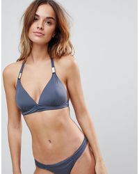 Boux Avenue Athens Triangle Bikini Top - Grey