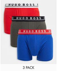 BOSS by Hugo Boss Набор Из 3 Боксеров-брифов Красного, Синего Цвета И Цвета Хаки Boss Вodywear-многоцветный