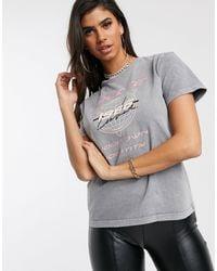 The Couture Club Motif T-shirt - Grey
