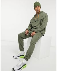 ASOS Co-ord Tapered Cargo sweatpants - Green