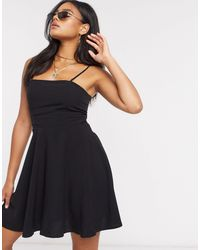 NA-KD Flowy Mini Dress - Black
