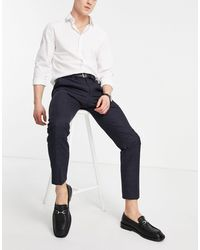 Moss Bros Moss London Slim Fit Suit Trousers - Blue