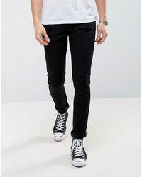 Nudie Jeans Co Skinny Lin Skinny Fit Jeans - Black