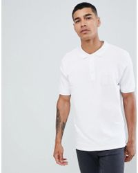 Pull&Bear - Join Life Polo In White With Sunset Embroidery - Lyst