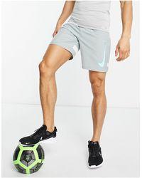 Nike Football Dri-fit Academy Logo Shorts - Grey