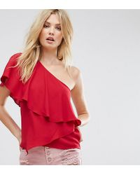 ASOS - One Shoulder Tiered Top - Lyst