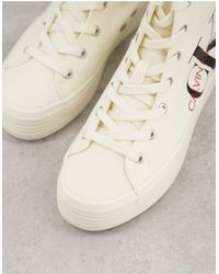 Calvin Klein Jeans Zoreda Hi Top Sneakers - White