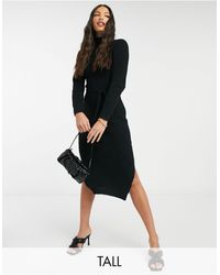 Missguided High Neck Belted Maxi Dress - Black
