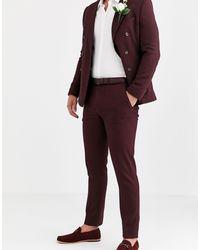 ASOS Wedding Skinny Suit Trousers - Red