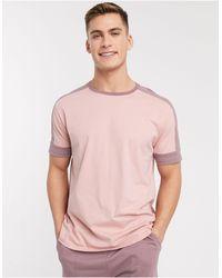 ASOS Lounge T-shirt And Short Pyjama Set - Pink