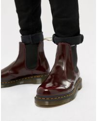 Dr. Martens - 2976 Chelsea Boots In Red - Lyst