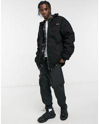 Liquor N Poker Denim Puffer Jacket - Black