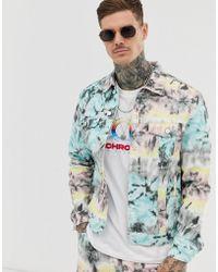 on sale bf841 1cf85 Giacca di jeans tie-dye multi in coordinato - Blu