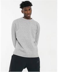 Nike Серый Флисовый Свитшот С Круглым Вырезом Revival Tech-черный Цвет