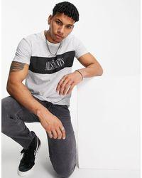 AllSaints Camiseta negra a rayas Warren - Negro