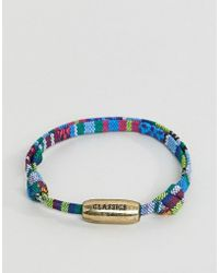 Classics 77 - Multi Colored Bracelet With Burnished Gold Adjustable Knot - Lyst