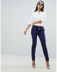 Salsa Colette Chino With Belt - Blue