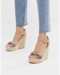 Glamorous Multicoloured Espadrille Wedge Sandals