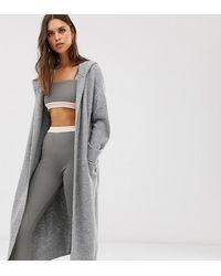 Micha Lounge Maxi Cardigan With Hood - Gray