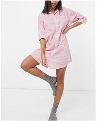 Lauren by Ralph Lauren Nachthemd Met Paisley Motief - Roze