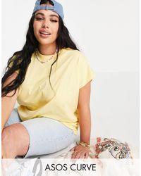ASOS - Asos Design Curve Boxy Sleeveless T-shirt - Lyst