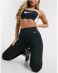 Nike Черный Бюстгальтер Колор Блок