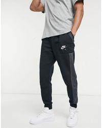 Nike Черно-серые Джоггеры С Манжетами Air-черный Цвет