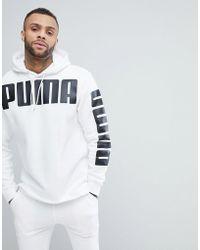 PUMA - Rebel Logo Hoodie - Lyst
