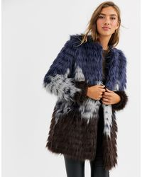 Urbancode Faux Fur Coat - Blue