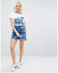 Wrangler Wild Wash Denim Mini Skirt - Blue
