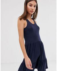 ONLY – Ausgestelltes Kleid - Blau