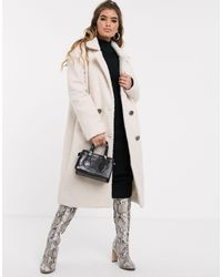 Missguided Double Breated Duster Coat - White