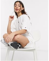 Champion Reverse Weave - Vestito T-shirt oversize - Bianco