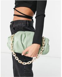 ASOS Oversized Ruched Clutch Bag - Green