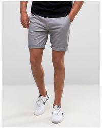 ASOS Asos Slim Chino Shorts - Gray