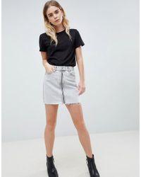 Dr. Denim - Mini Skirt With Exposed Zip - Lyst