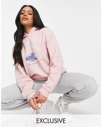 New Girl Order Exclusive La Jolla Oversized Beach Hoodie Co-ord - Pink