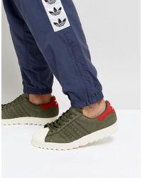 Lyst adidas Originals Superstar formadores en verde bz0567 en verde