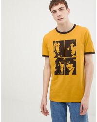 Pretty Green X The Beatles Portrait T-shirt In Yellow