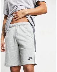 Nike Серые Шорты Из Махровой Ткани -серый