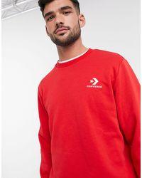 Converse – es Sweatshirt mit Rundhalsausschnitt - Rot