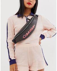 Calvin Klein Сумка-кошелек На Пояс С Монограммой -коричневый