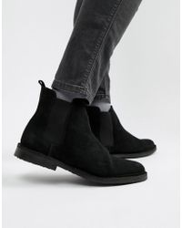Office - Iberian Chelsea Boots In Black Suede - Lyst